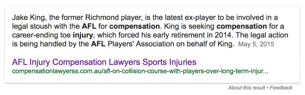 afl injury compensation lawyers