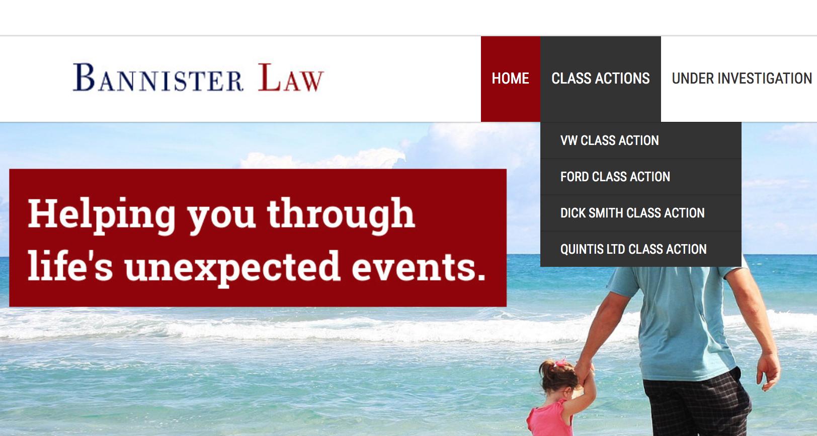 vw class action australia bannister law