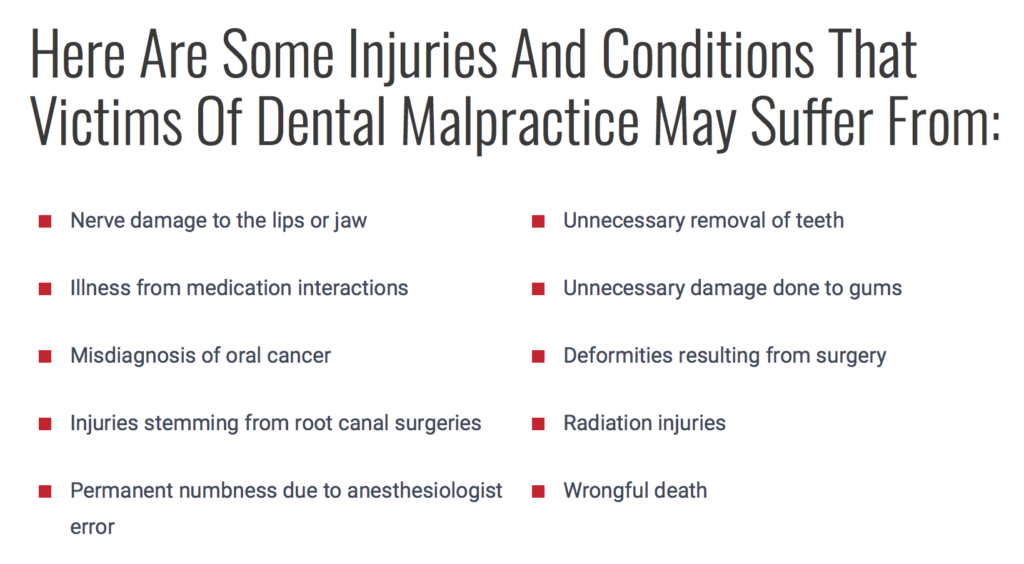 dental negligence compensation malpractice sue your dentist my
